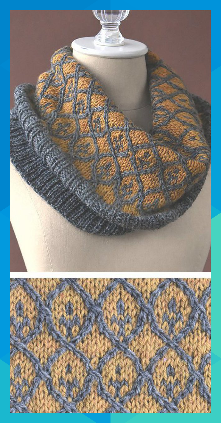 Free Knitting Pattern for Willowwork Cowl - Worked in the ...