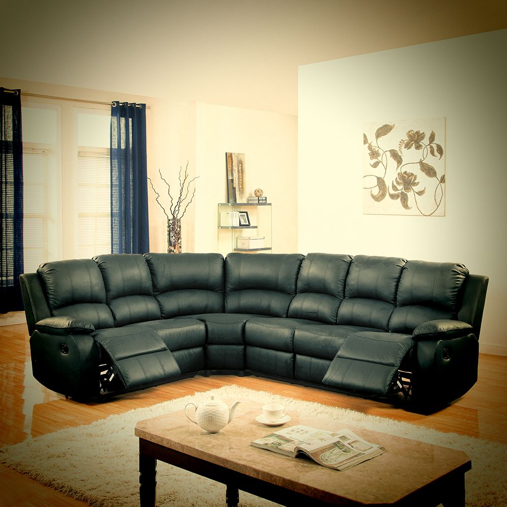 Clic Oversized Overstuffed Corner Recliner Sectional