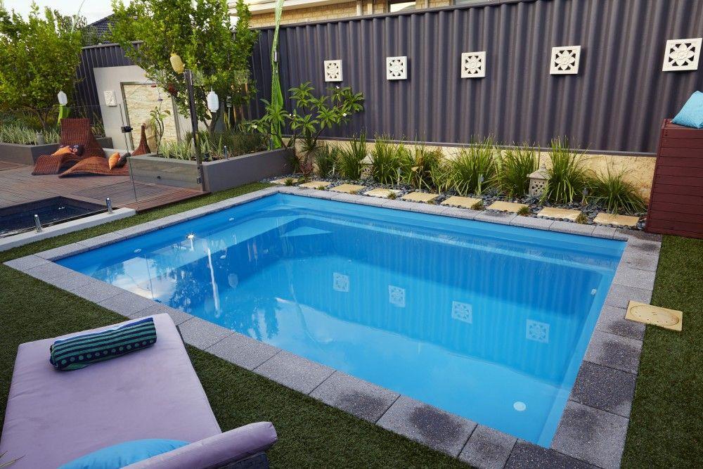 Back Yard Plunge Pool next Swimming pools, Fiberglass