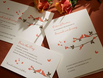 carolinian letterpress invitation