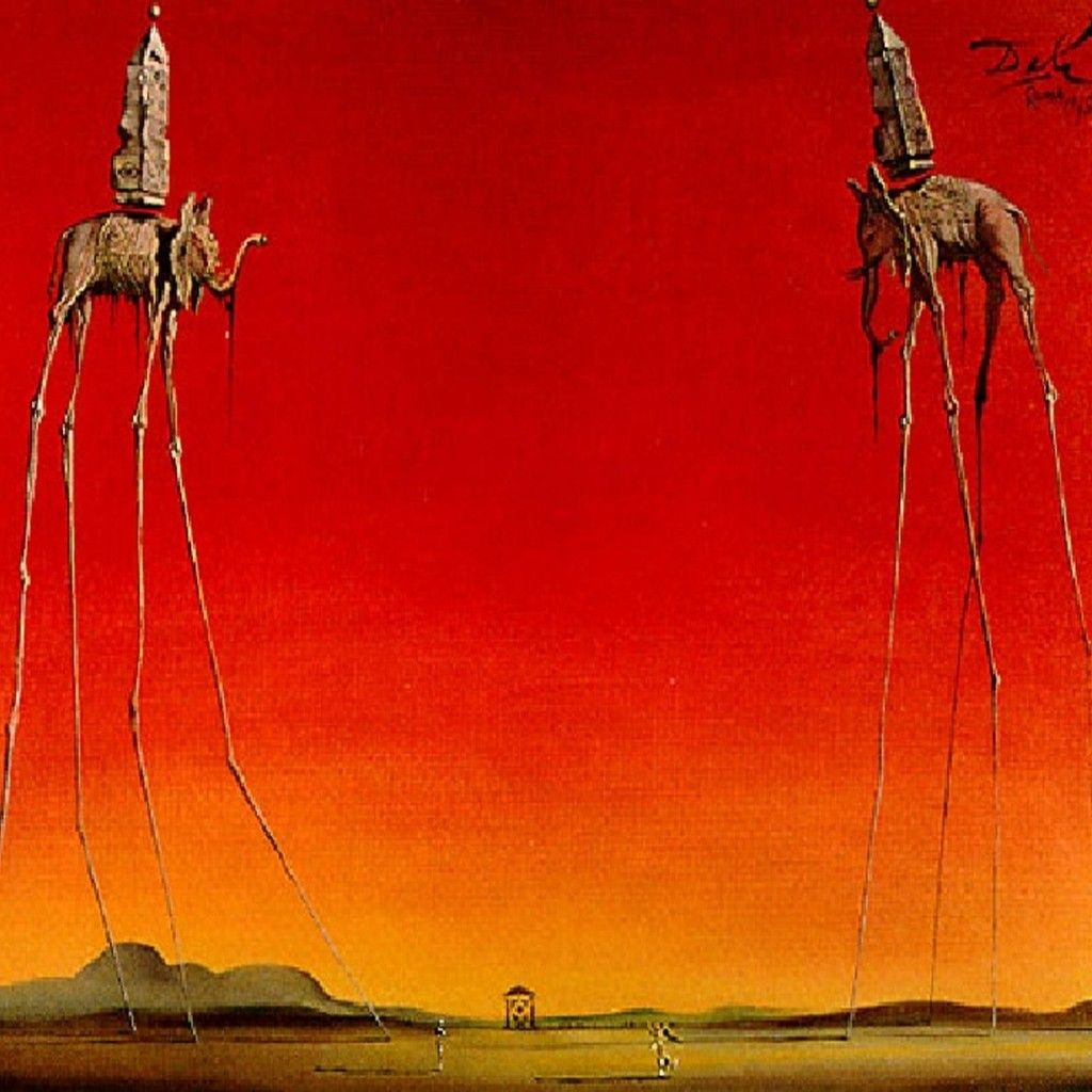 Salvador Dali – The Elephants | weirdo pictures | Salvador ...