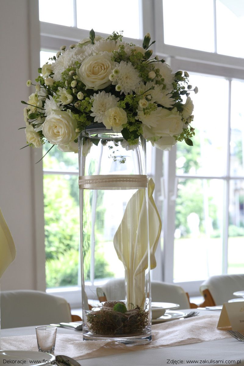 Dekoracja Slubna Florystyka Florysta Florystka Bukietslubny Wiazankaslubna Dekoracjaslubna Dekoracjaflorystyczna Kwia Table Decorations Wedding Decor