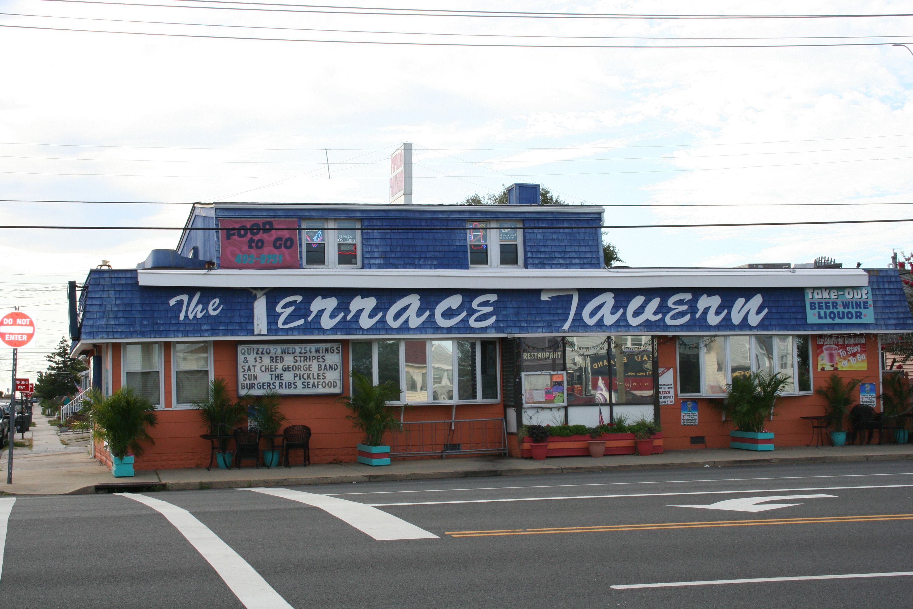 This Is How I Will Always Remember The Terrace Tavern In Lbi W Blue Awning Long Beach Island Beach Haven Nj Shore