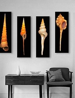 Stretched Canvas Art Conch Decorative Painting  Set of 4 – AUD $ 128.69