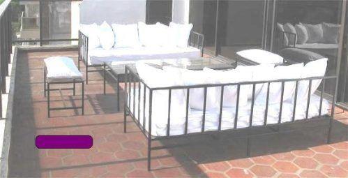 Juego sillones exterior spa camastros hierro forjado for Camastros de hierro para jardin