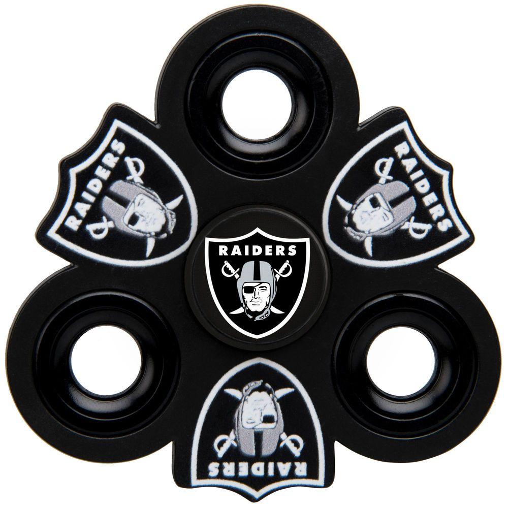 New Oakland Raiders Three Way Molded Logo Fidget Spinner | Football  free shipping