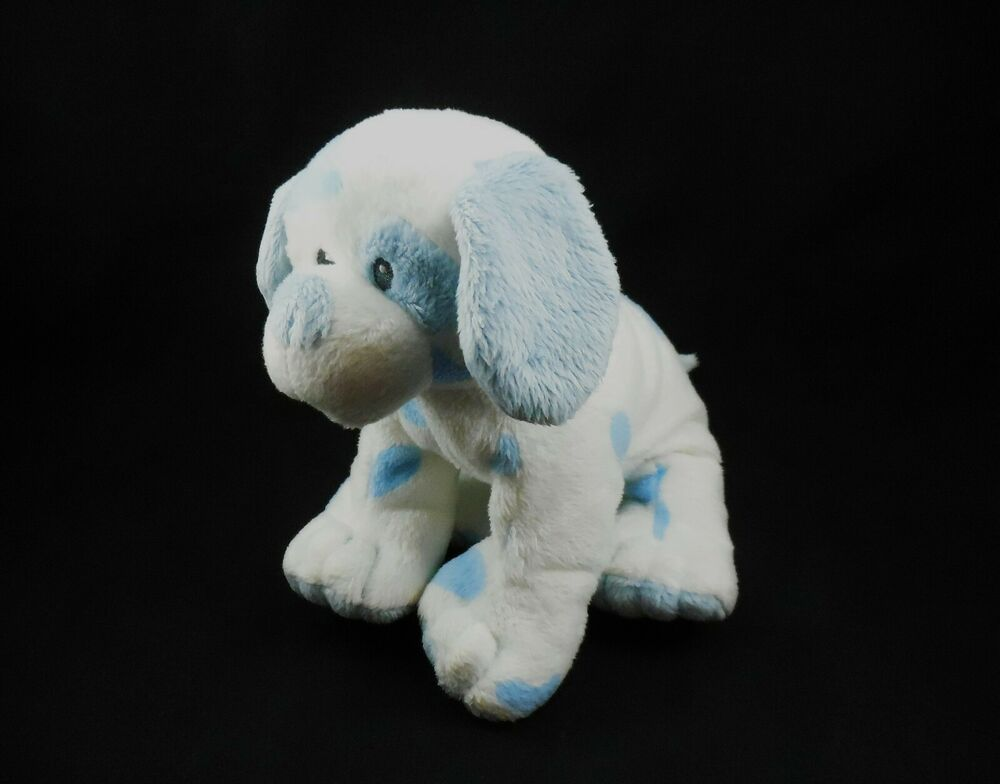 Ty Pluffies Baby Pup, Blue Spots, Plush stuffed Puppy Dog