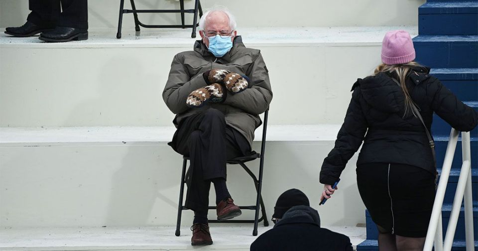 Cold Bernie Memes Are The Gift That Keeps On Giving In 2021 Bernie Sanders Inauguration Joe Biden