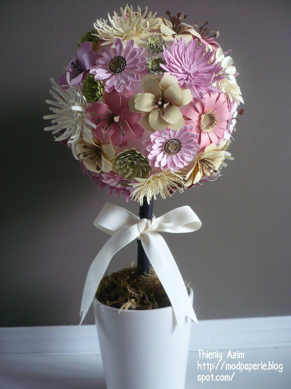 Mod Paperie 3 D Flower Topiary Crafts Pinterest Topiary