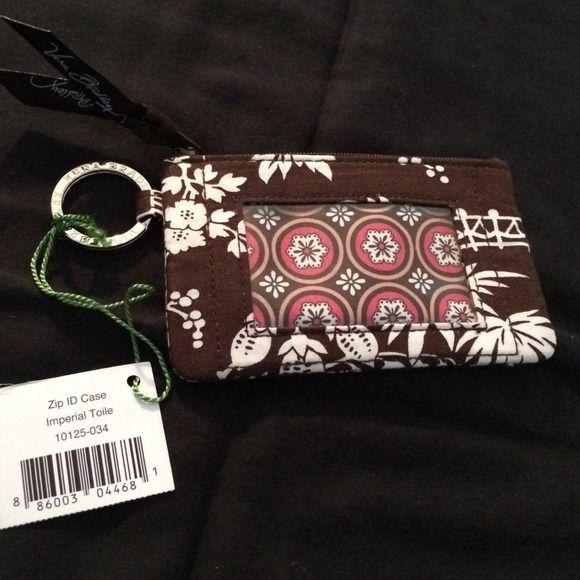 Vera Bradley zip ID case...NEW Imperial toile print Vera Bradley Bags