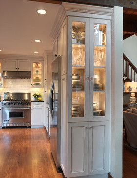 Illuminated Glass Cabinets To Showcase Collectibles Beautiful Kitchens Rustic Dining Furniture Dining Furniture Makeover