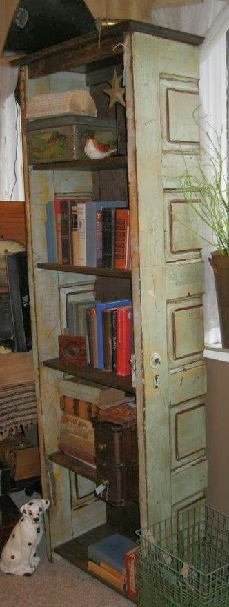 Old French Door Bookshelf