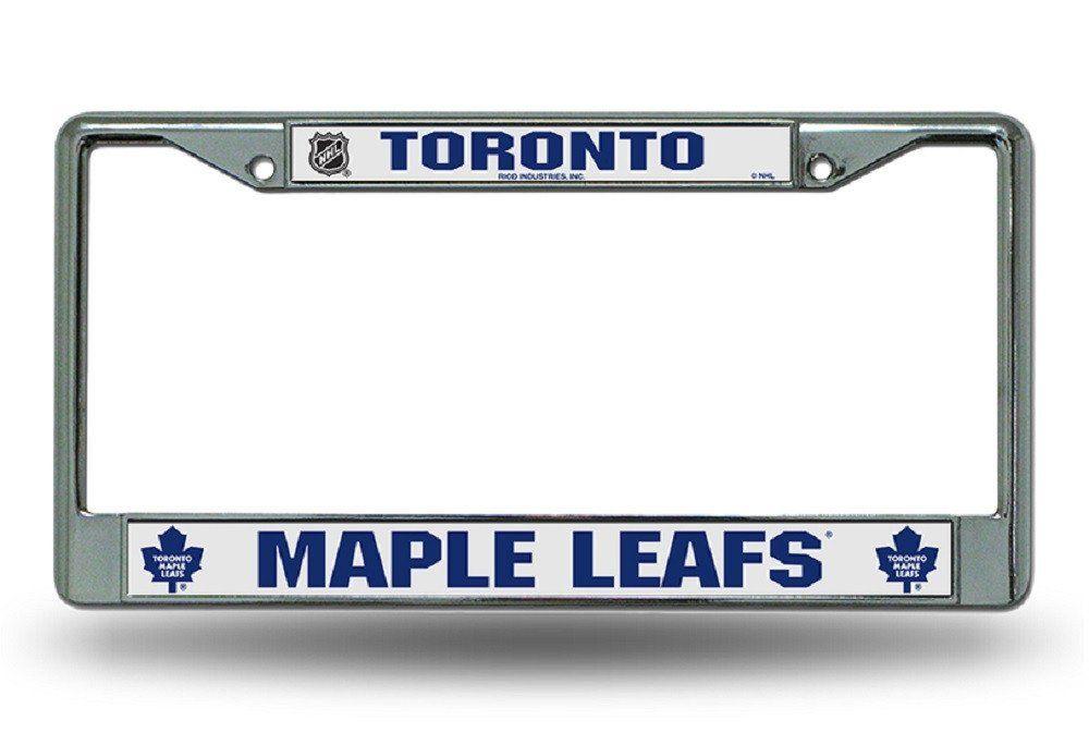 Toronto Maple Leafs License Plate Frame Chrome EZ View