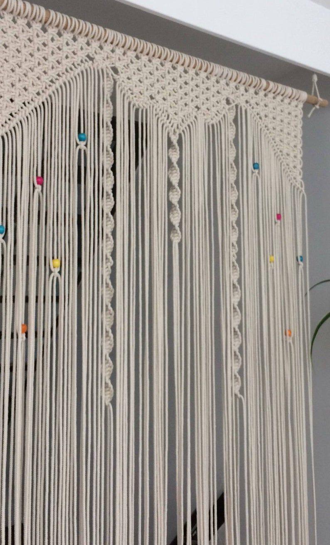 Handmade Macrame Boho Door Curtain Fly Curtain In Own Design In