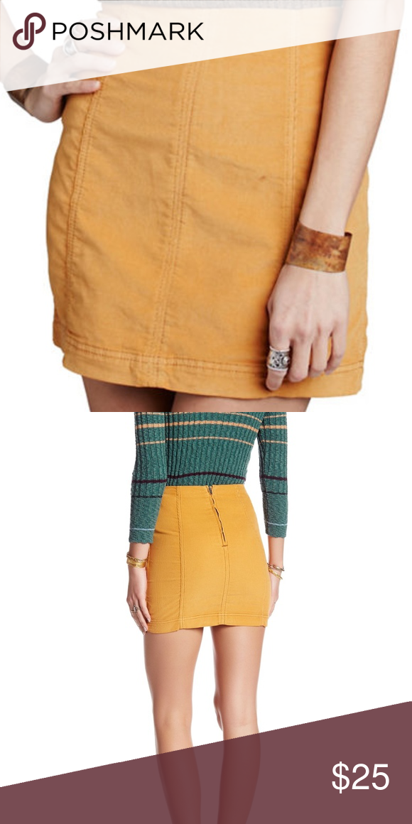 b724c553de45 Free People Modern Femme Cord Mini - Size 4 Free People Modern Femme Cord  Mini - Size 4. Worn once Mustard A-line corduroy skirt is in a modern fit.