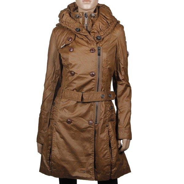 Khujo Samantha (with inner Jacket) Mantel Gingerbrown aus