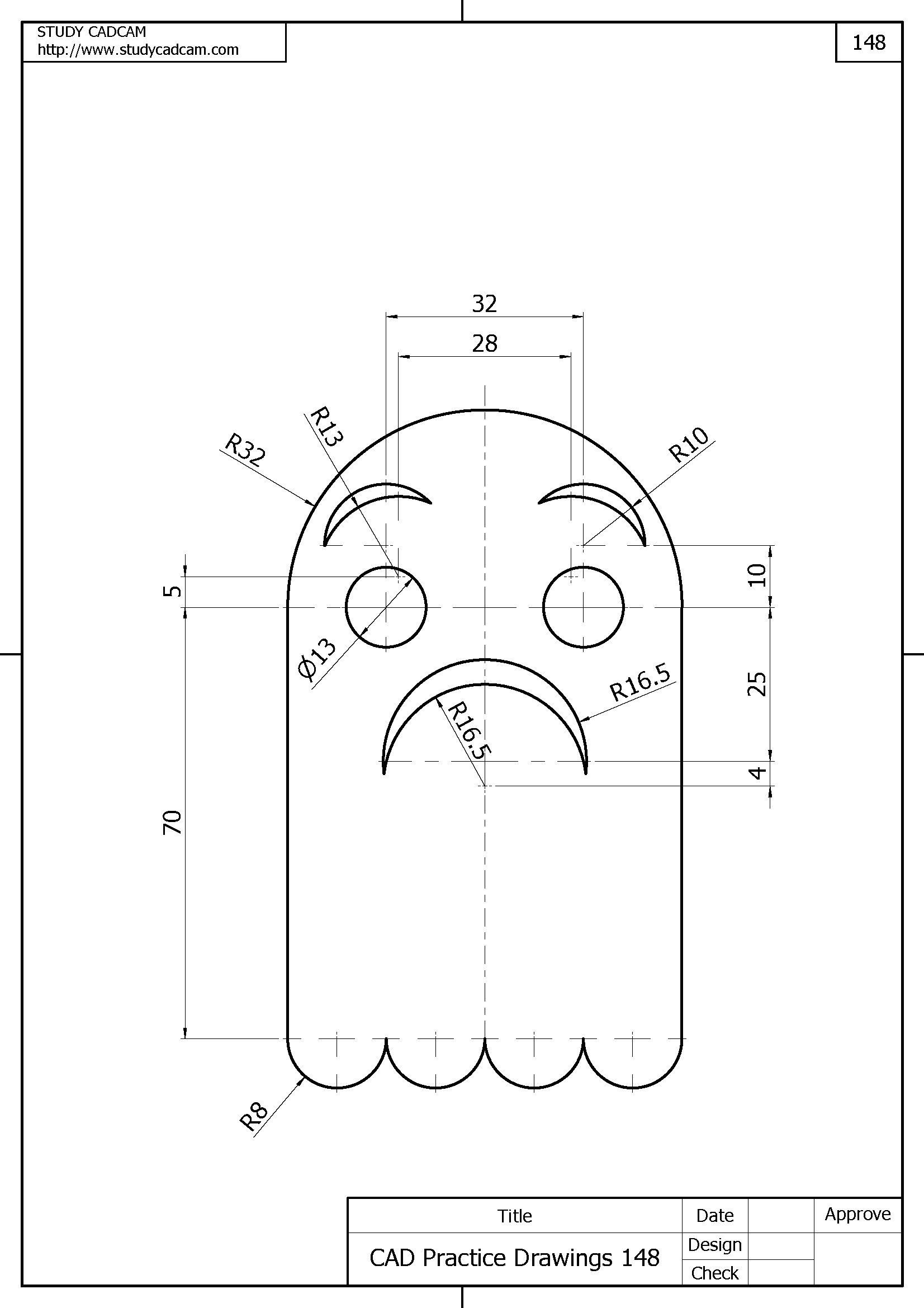 Cad Practice Drawings Studycadcam
