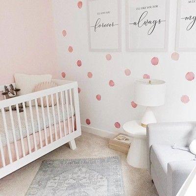 Watercolor Polka Dots Wall Decals