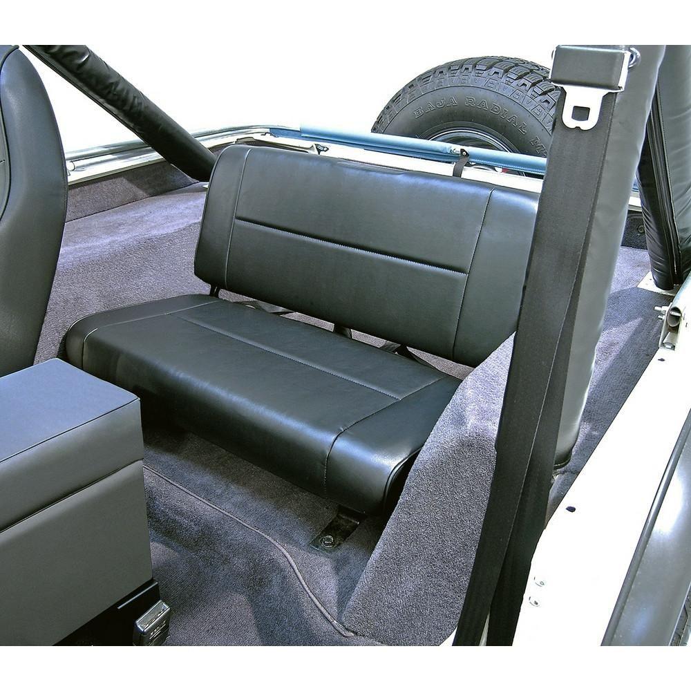Fixed Rear Seat Black By Rugged Ridge 55 95 Jeep Wrangler Cj Yj Jeep Wrangler Interior Jeep Cj Rear Seat
