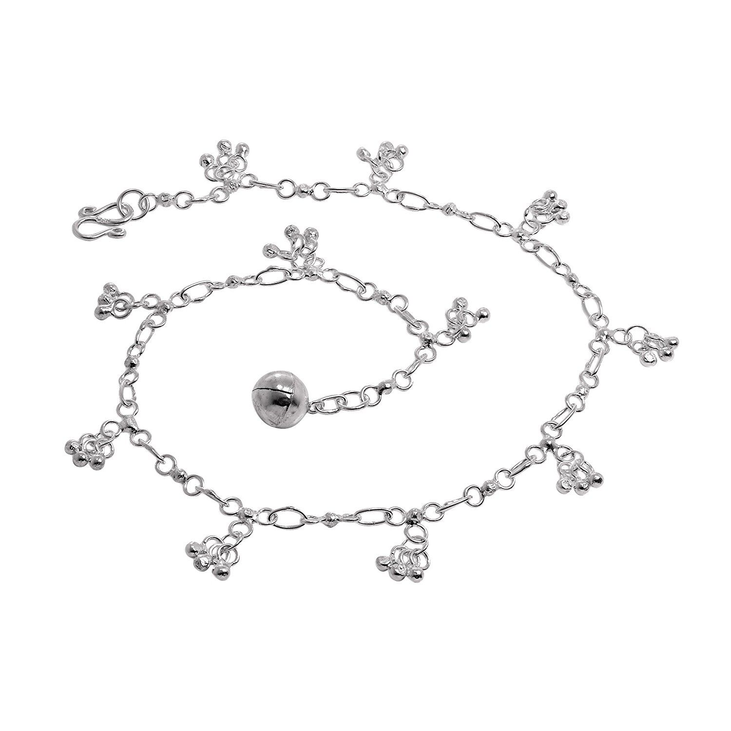 Sterling silver anklet with chandelier charms anklets pinterest sterling silver anklet with chandelier charms mozeypictures Gallery