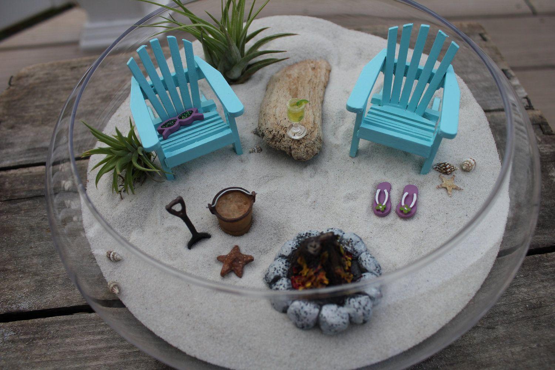 Table Chairs Miniature Landscape Fairy Garden Decoration Dollhouse Accessories9H