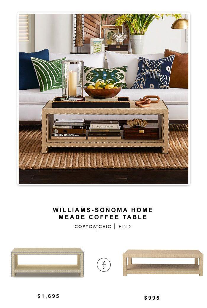 Exceptionnel @williamssonoma Home Meade Coffee Table $1695 Vs @serenaandlily Blake  Raffia Rectangular Coffee Table $995