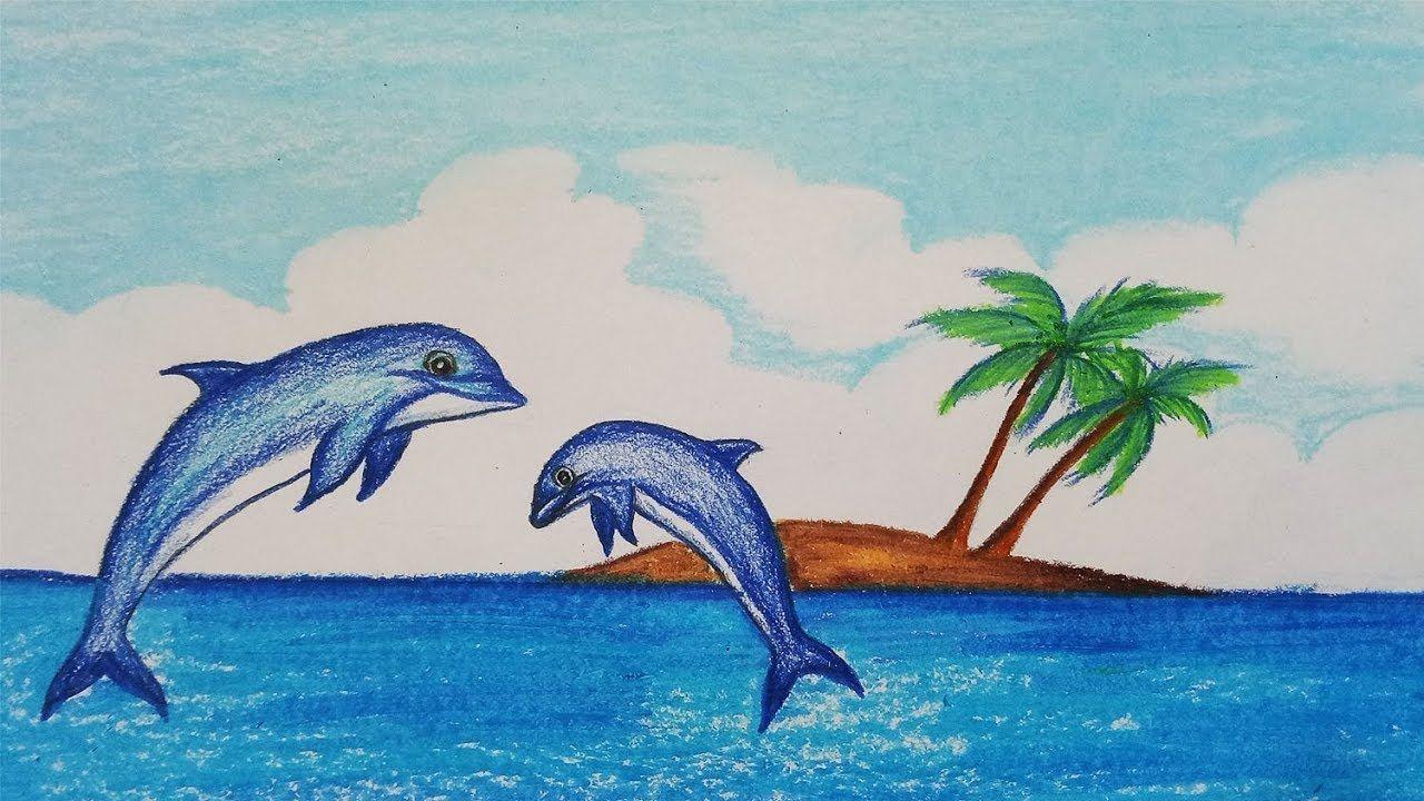 рисунок с дельфином нарисовать аккуратно выделите