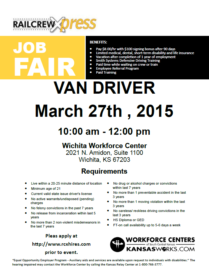 Railcrew Xpress Job Fair 03 27 From 10am Noon Workforce Center
