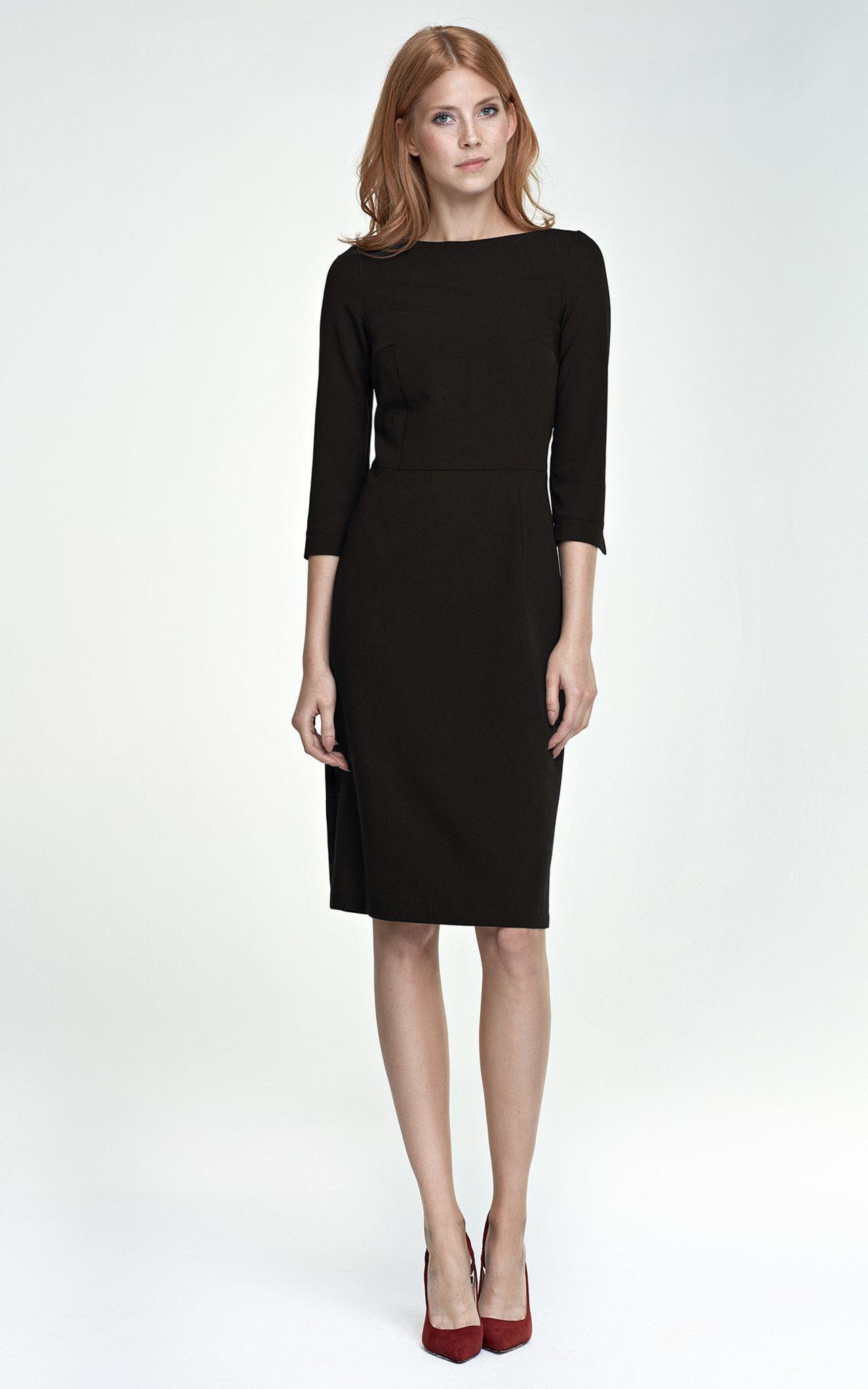 Classic Dress Silkfred Dresses Fashion Black Mid Length Dress [ 2048 x 1280 Pixel ]