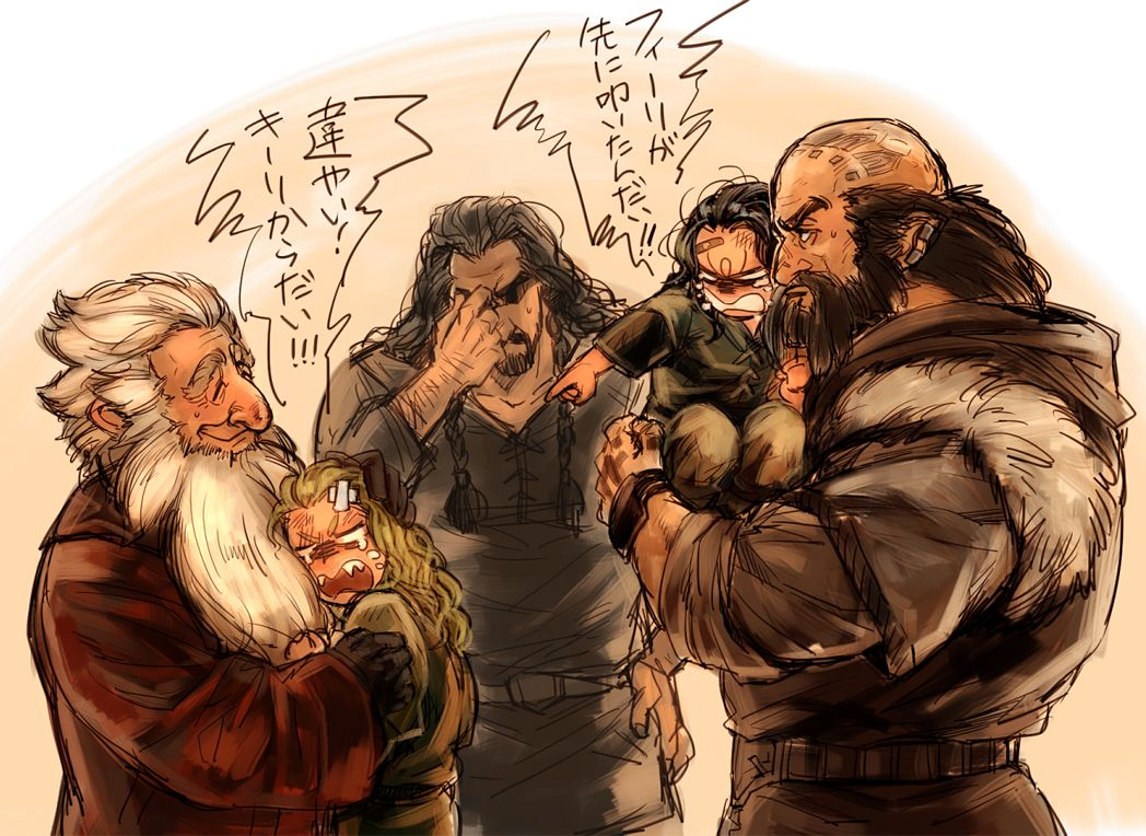 3 Bilbo and the dwarves artwork All Things Tolkien