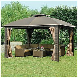 Wilson Fisher 10 X 12 Resin Wicker Riviera Gazebo