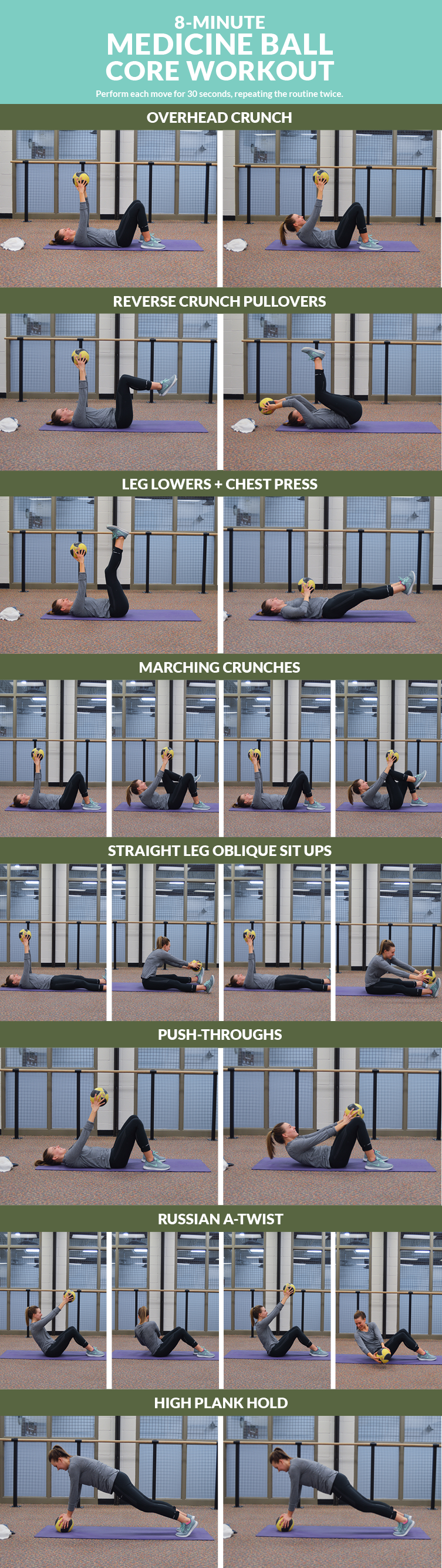 8-Minute Medicine Ball Core Workout #coreworkouts