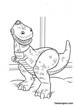 printable coloring toy story 3 tyrannosaurus rex printable coloring pages for kids