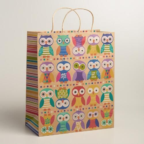 One Of My Favorite Discoveries At WorldMarket Jumbo Birthday Owls Gift Bag