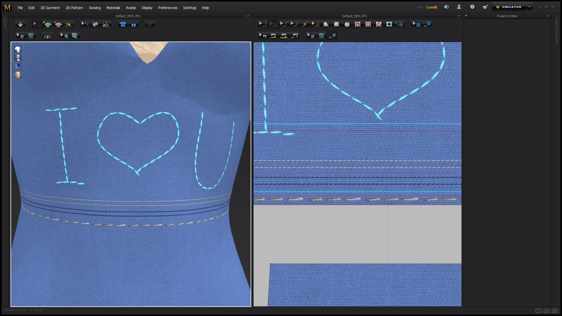 Free Marvelous Designer stitches tutorial. Learn how to add stitches ...