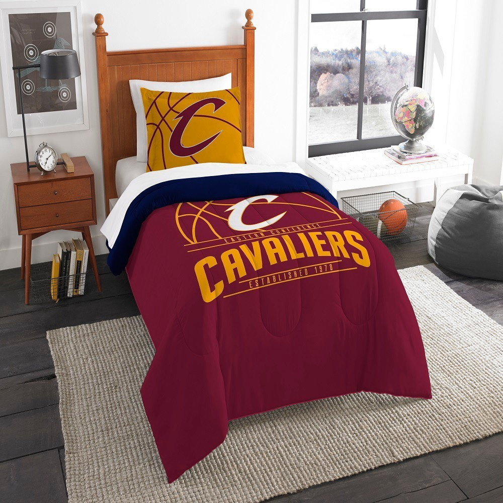 nba cleveland cavaliers northwest reverse slam twin comforter set