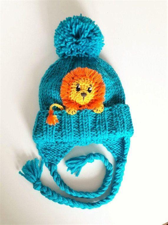 Neu Niedliches Baby Mütze Niedliches Kind Wintermütze Junge Mädchen Strickmütze