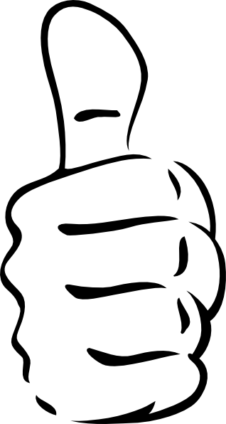 thumb clipart black and white | Thumbs Up Clip Art | Tshirt makers ...
