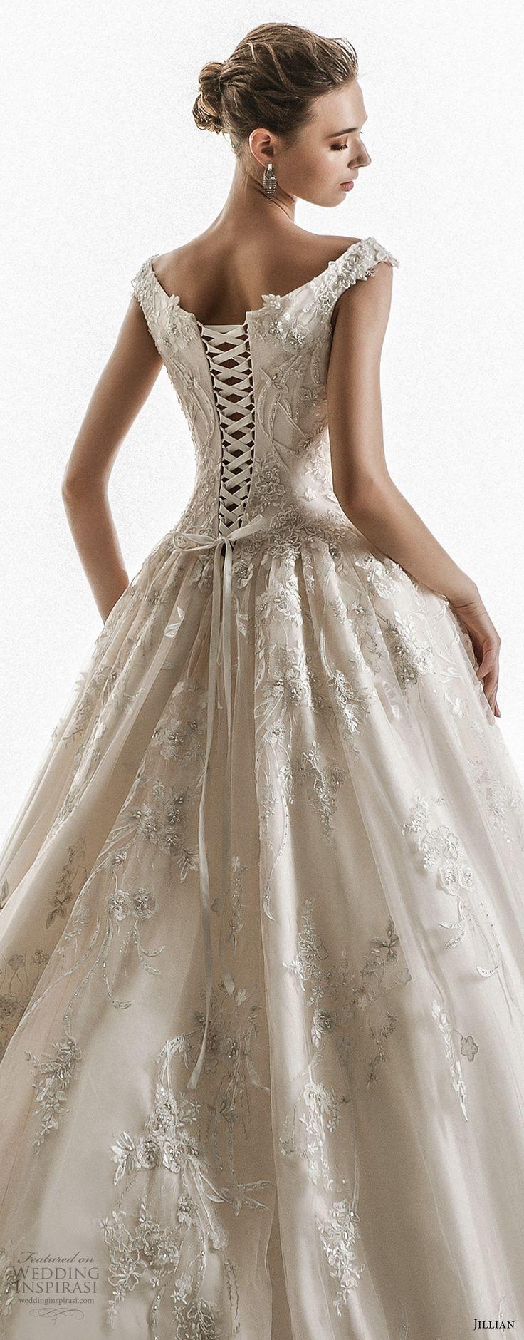 jillian 2018 bridal off the shoulder cap sleeves sweetheart neckline ...