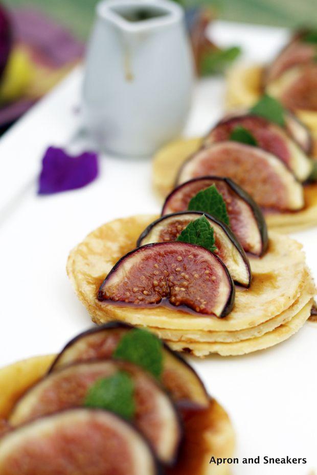 Hazelnut Pancakes with Roasted Figs & Reduced Marsala Sauce  @Rowena Dumlao Giardina | Apron and Sneakers