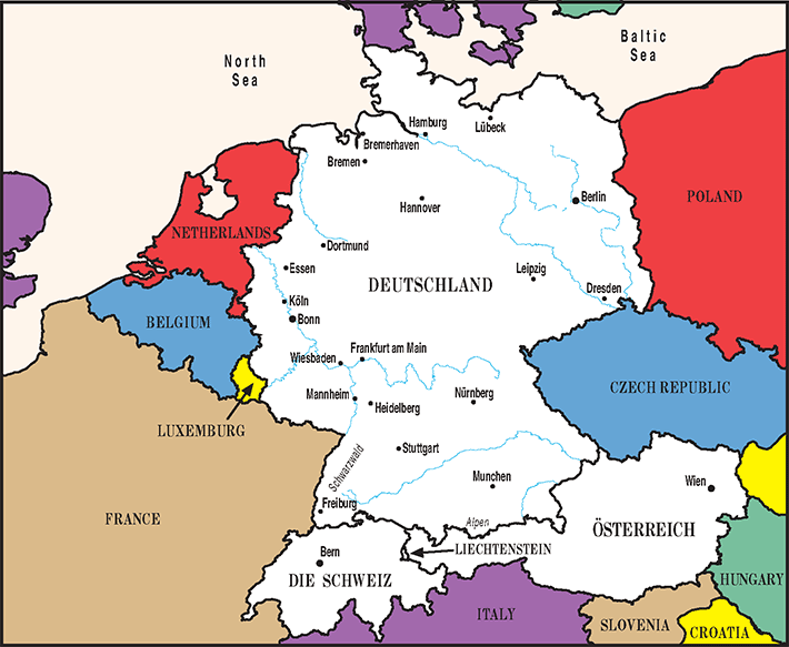 Map Of Germany Luxembourg Belgium.Top 10 Punto Medio Noticias Luxembourg Germany
