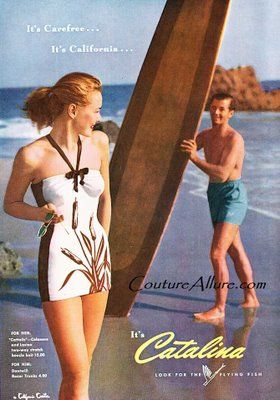 bad21f9c8f Catalina Swimsuits 1948 | Vintage Swim suit ads | Vintage swimsuits ...