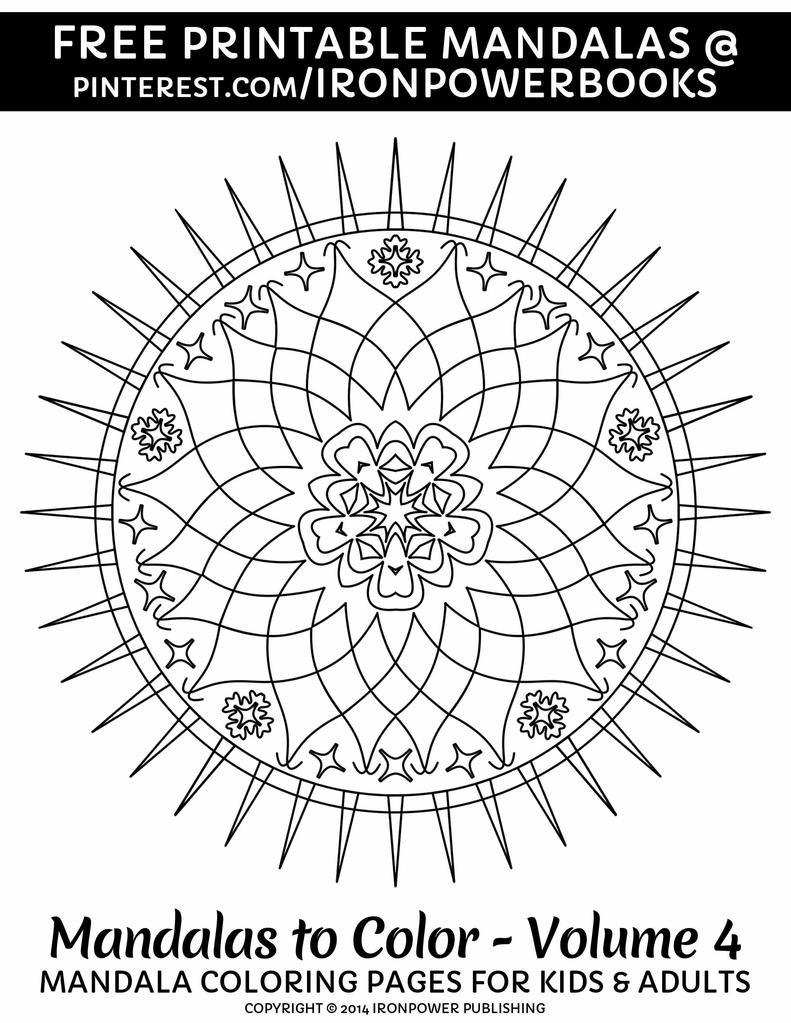 Free Easy Mandala Coloring Page