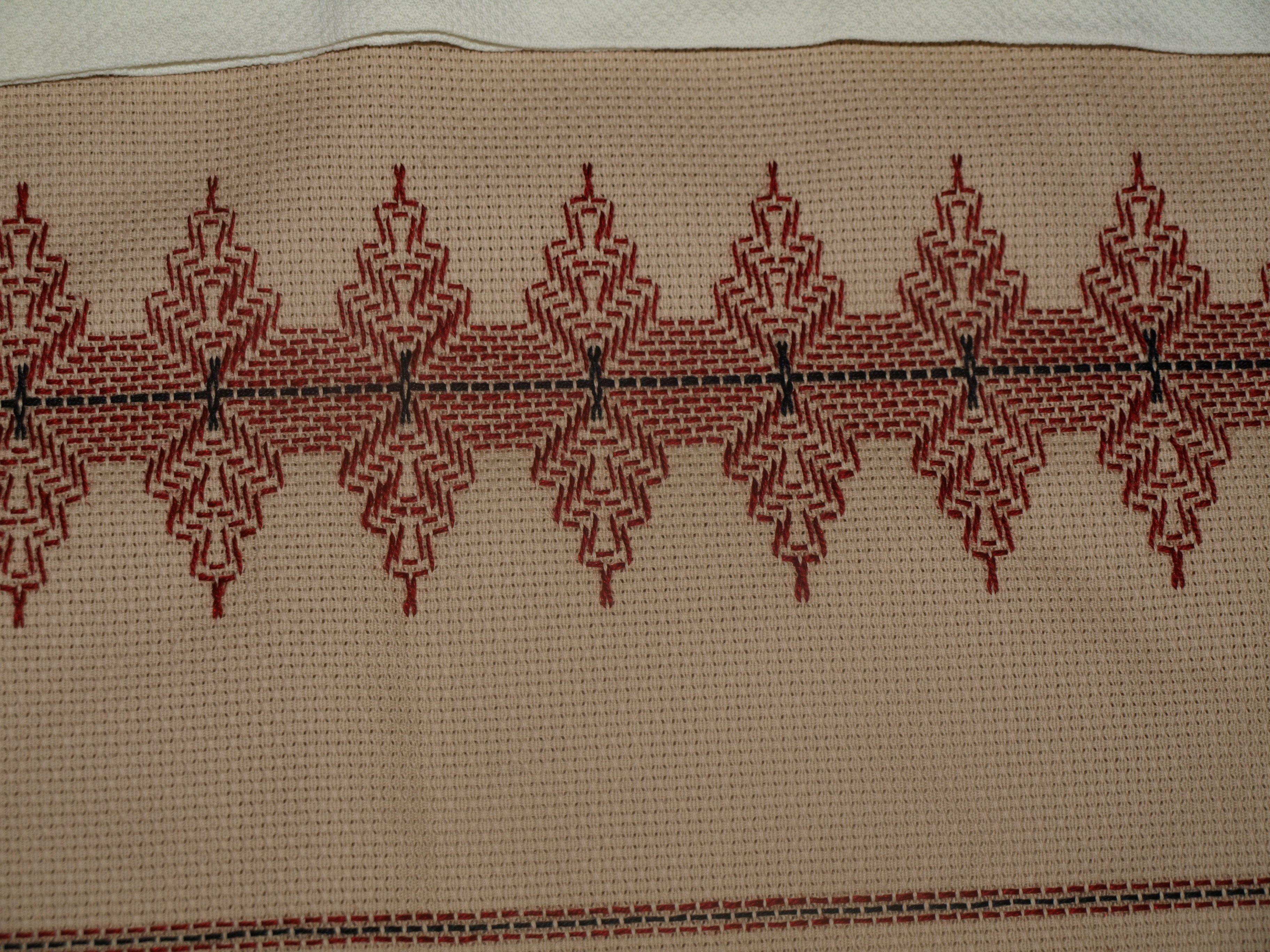 Huck fabric with Caron Impressions floss. | PUNTO DE CRUZ, PATRONES ...