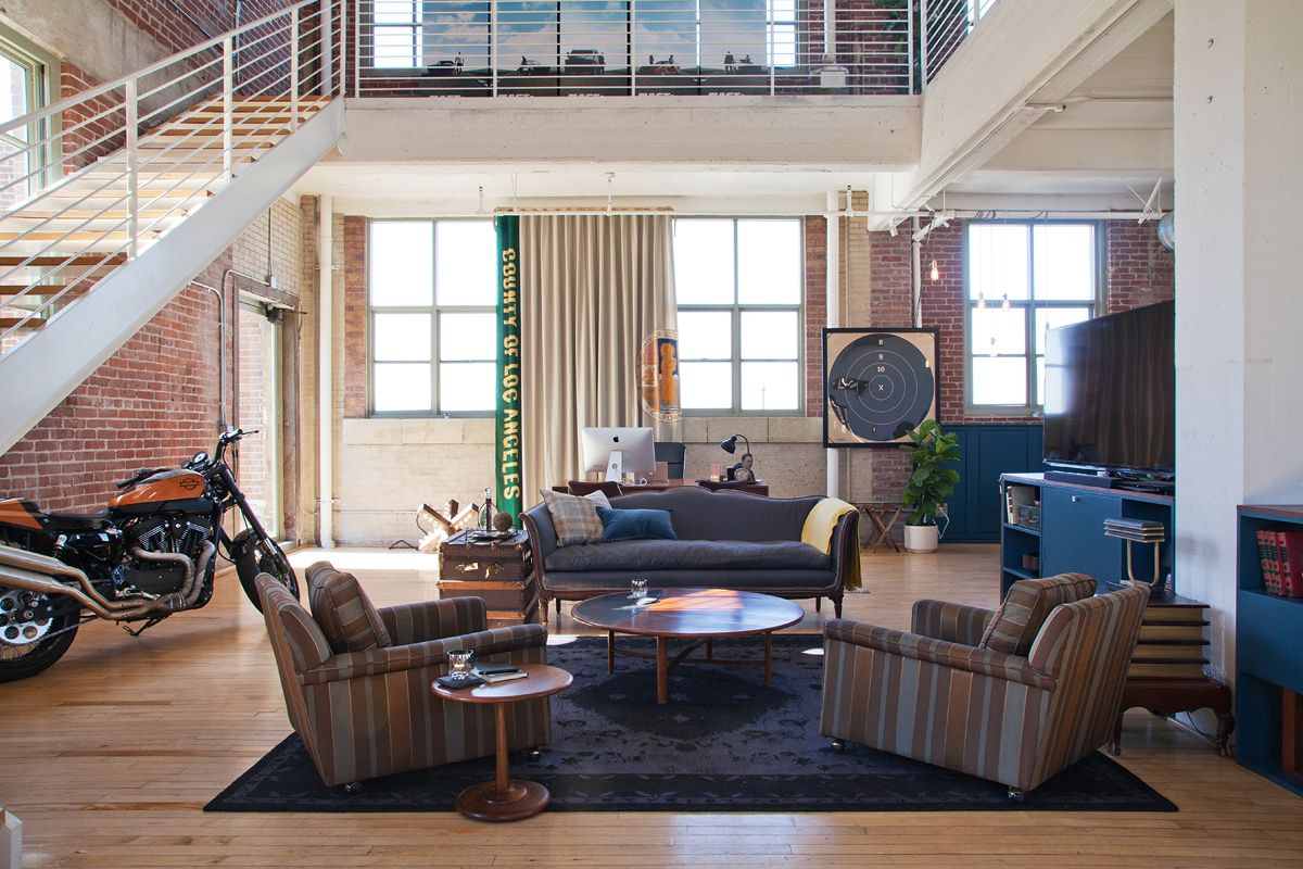 Motorcycle in the living room? Why not? | Masculine Home ...