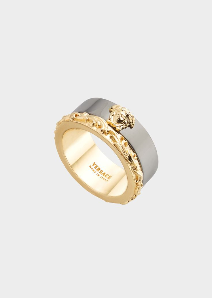 Medusa Barocco Two-Tone Ring for Men | US Online Store