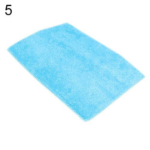 Dish Towel Dishcloth Bamboo Fiber Oil Washing Towels Scouring Pad Kitchen Gadget - Blue
