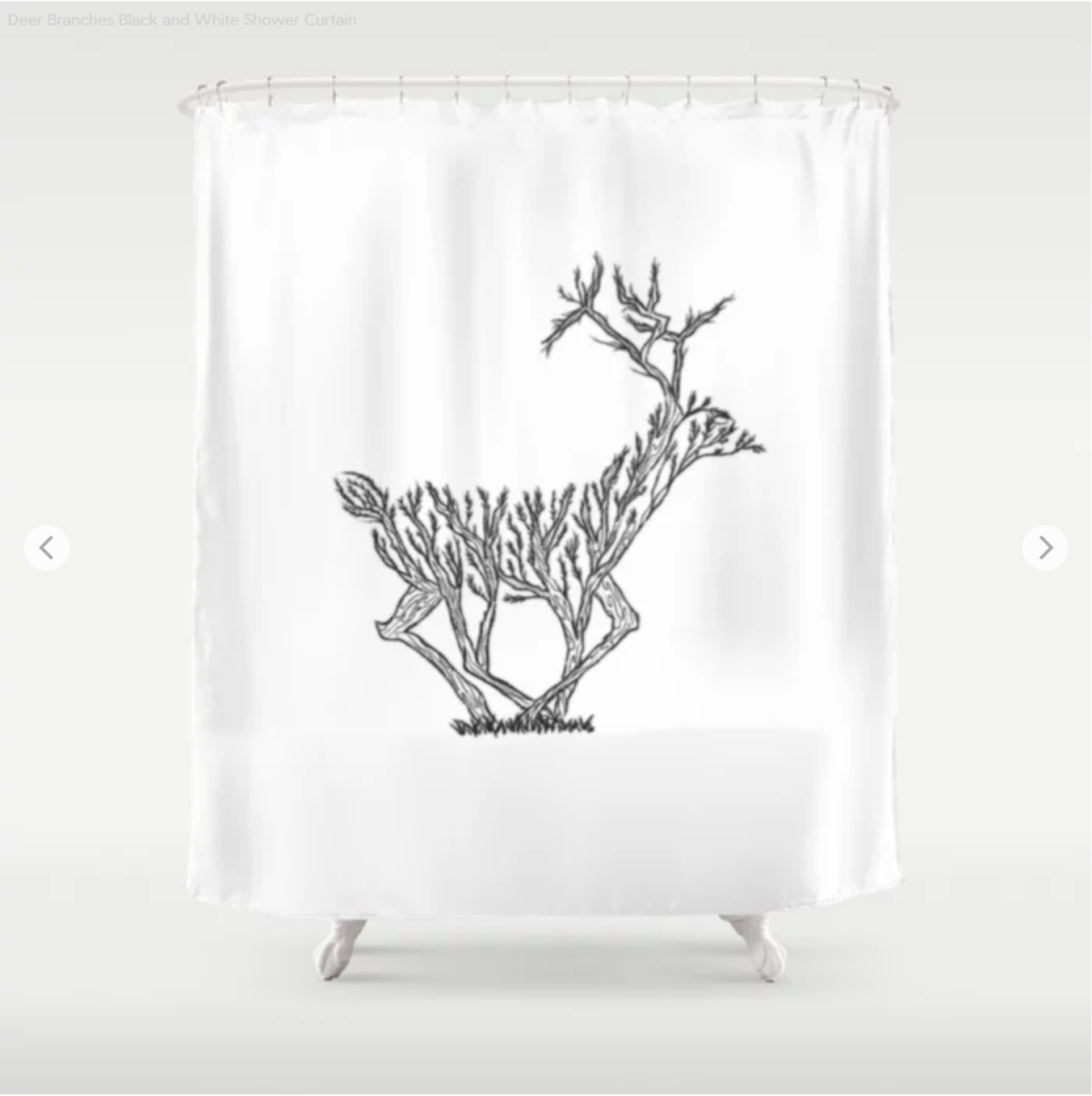 My Custom Designed Winter Deer Is Available On Bathroom Accessories Too Like This Shower Curtain And Bath Mats Only For Sale Society6