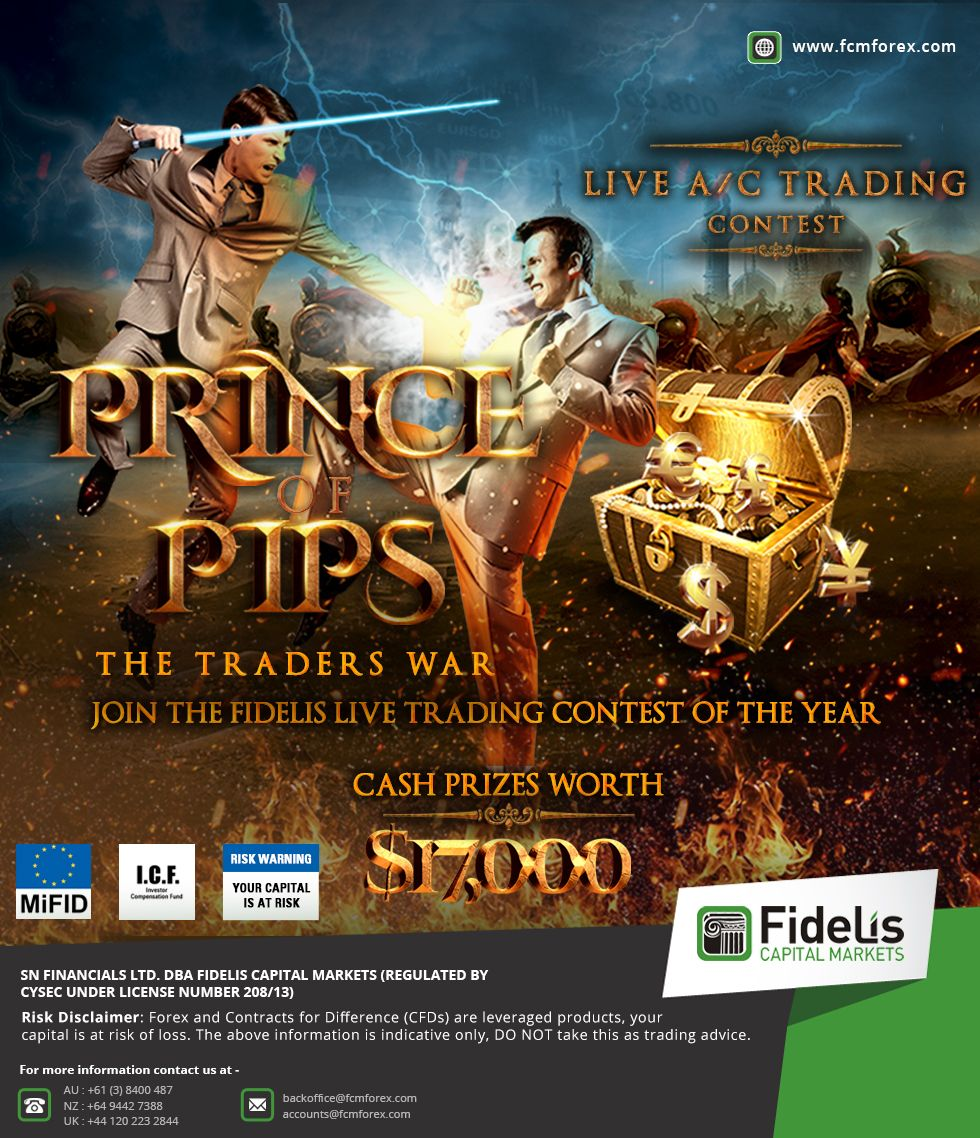 """""""JOIN THE FIDELIS LIVE TRADING CONTEST OF THE YEAR"""" """"CASH"""