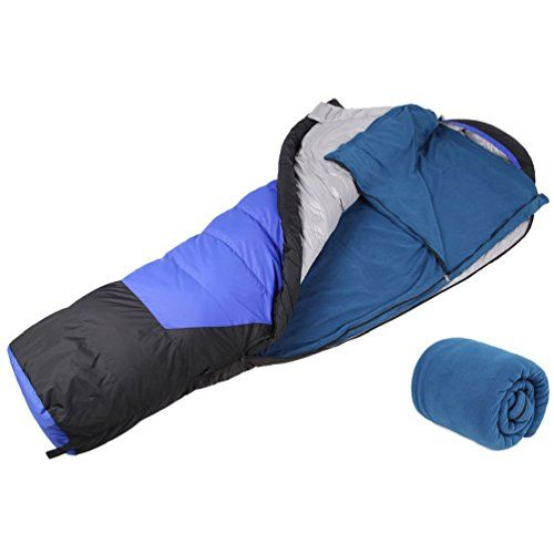 Polar Fleece Sleeping Bag Liner Outdoor Travel Wilderness Camping Hiking Cold